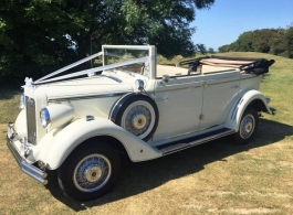 Vintage style wedding car hire in Burgess Hill